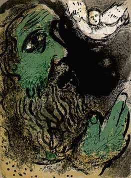 Job Praying Marc Chagall, 1960